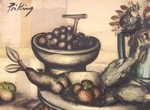 Franz PRIKING - Pittura - Nature morte