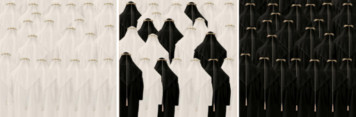Mohammed AL SHAMMAREY - Print-Multiple - Trilogy of Divide and Conquer, triptych