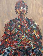 Max UHLIG - Pintura - Bildnisstudie J.P.