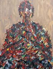 Max UHLIG - Painting - Bildnisstudie J.P.