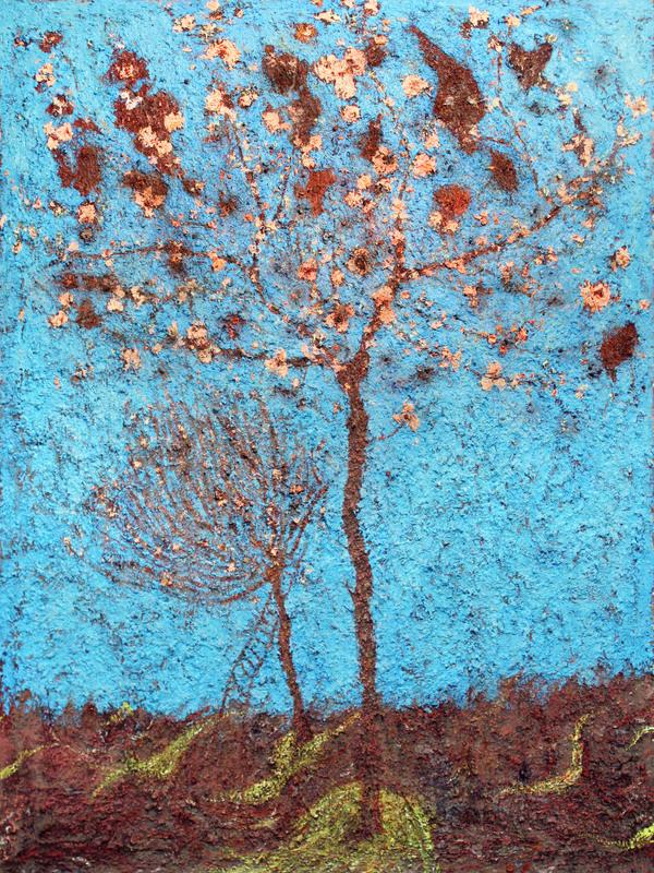 Frédéric COURAILLON - Painting - Arbre en fleurs