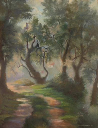 Felix PISSARRO II - Gemälde - Path Near Menton