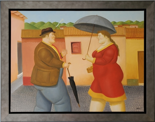 Fernando BOTERO - Peinture - Man and Woman