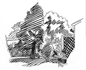 Tom WESSELMANN - Stampa Multiplo - Jeannie's Backyard East Hampton