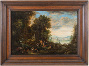 Johannes Jacob HARTMANN - Peinture - Baptism of Christ