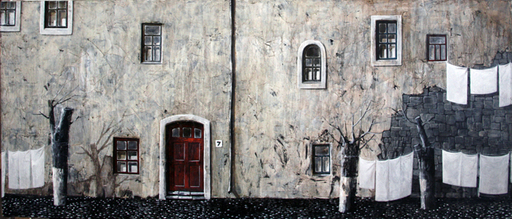Zurab GIKASHVILI - Painting - White house