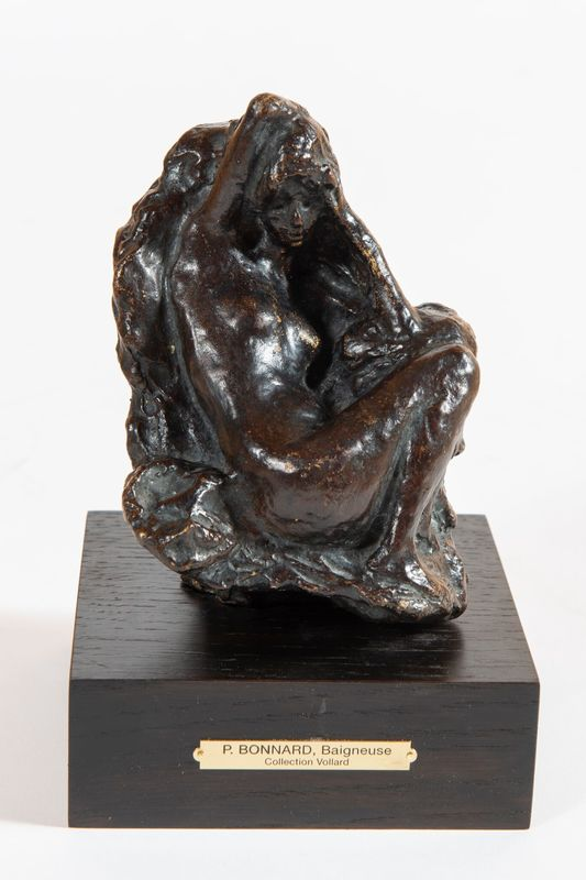Pierre BONNARD - Sculpture-Volume - Baigneuse assise devant un rocher