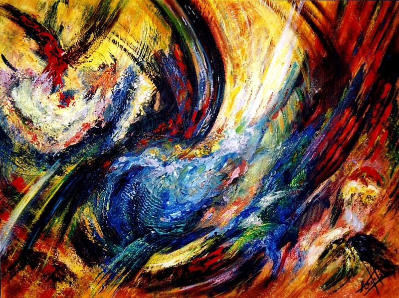 Didier ANGELS - Peinture - L'aigle à deux têtes