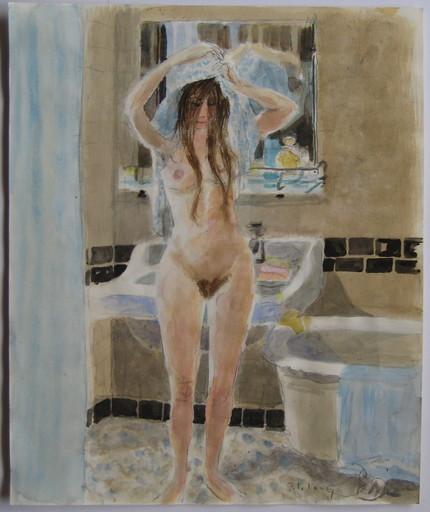 Pierre Emile Gabriel LELONG - Drawing-Watercolor - DESSIN AQUARELLE SIGNÉ MAIN HANDSIGNED DRAWING NU FÉMININ
