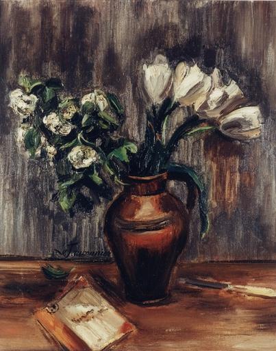 Henri LE FAUCONNIER - Pittura - Fleurs dans un vase, 1943