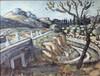 Auguste CHABAUD - Pittura - Pères blanc sur la route de Frigolet