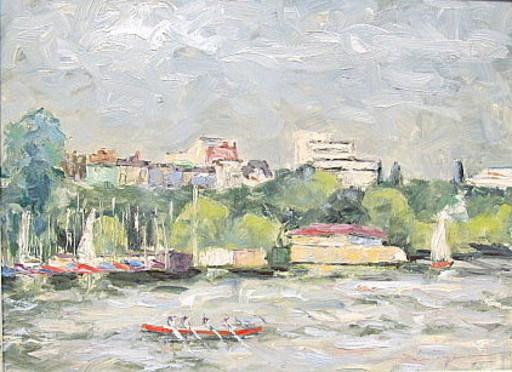 Walter BRÜGGMANN - Painting - An der Aussenalster (Hamburg).