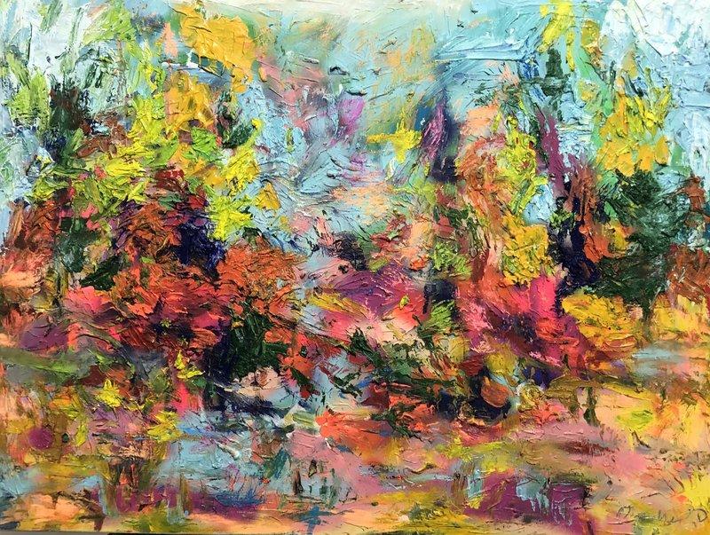 Nicole LEIDENFROST - Gemälde - Purple Sunrise