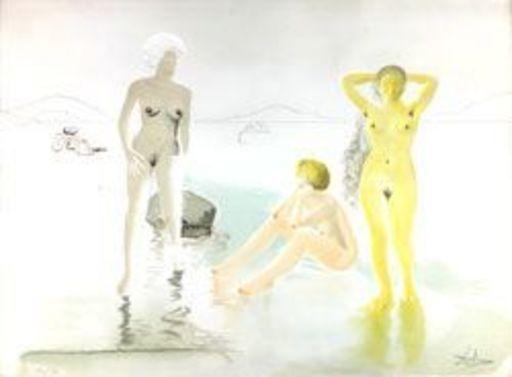 Salvador DALI - Estampe-Multiple - Three Graces of Cova d'Or