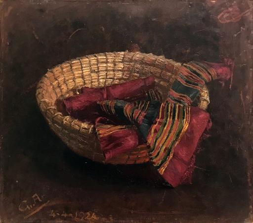 Giuseppe AR - Peinture - Natura morta con cesta