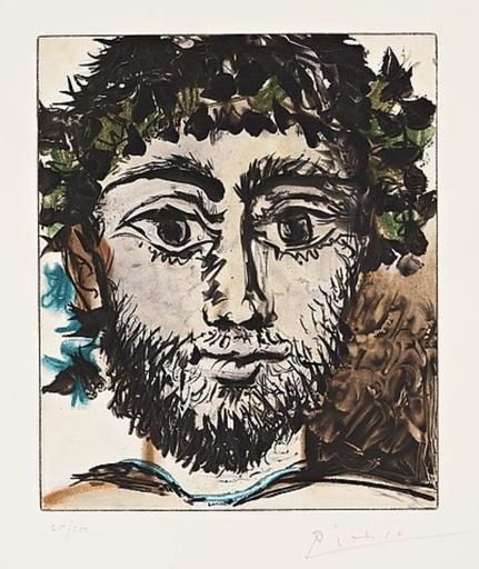 巴勃罗•毕加索 - 版画 - Tete de Faune