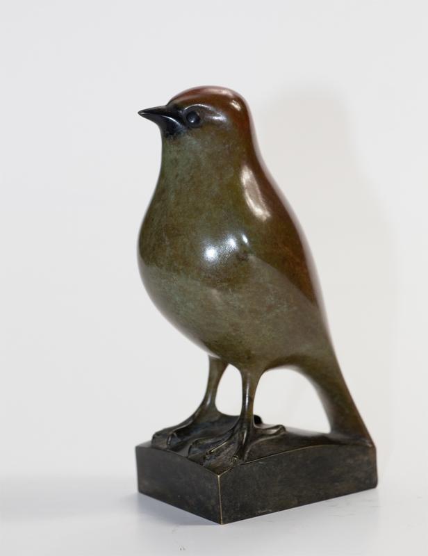 François GALOYER - Sculpture-Volume - Traquet motteux