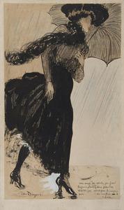 Kees VAN DONGEN - Drawing-Watercolor - Un coup de vent