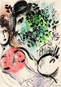 Marc CHAGALL, Le peintre et son modele