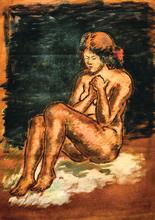 Krishnaji Howlaji ARA - Pintura - Nude Lady