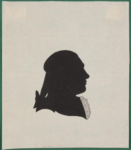 """Frank DEIWEL - Miniature - """"Silhouette Portrait"""", ca.1780"""