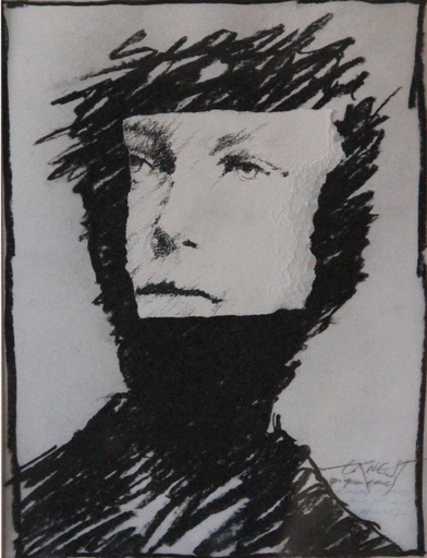 Ernest PIGNON-ERNEST - Drawing-Watercolor - Regards. Rimbaud. Etude n°7
