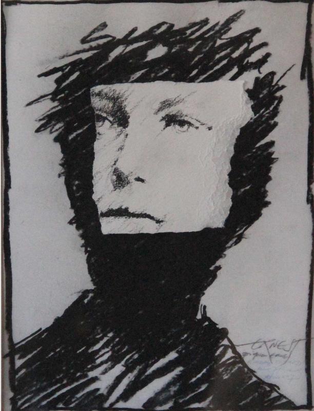 Ernest PIGNON-ERNEST - Disegno Acquarello - Regards. Rimbaud. Etude n°7