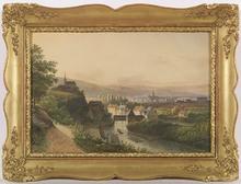 Pieter Francis PETERS - Drawing-Watercolor - View of Berg in Bavaria, Watercolor