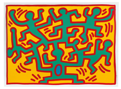 Keith HARING - Grabado - Plate II, from Growing Suite