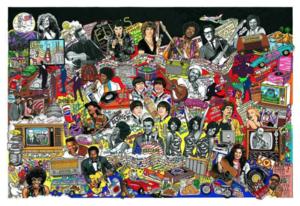 Charles FAZZINO - Druckgrafik-Multiple - Rockin Throught the 1960s