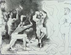 巴勃罗•毕加索 - 版画 - The Dance of the Fauns | La Danse des Faunes