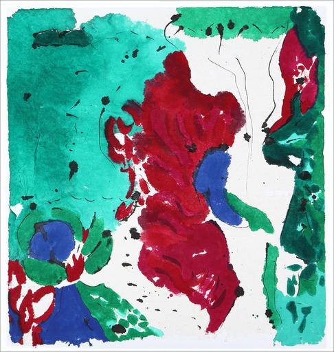 Judith WOLFE - Painting - Fleurs grenade V