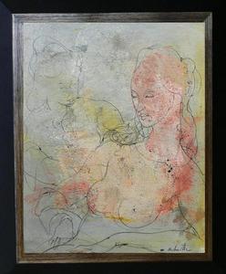 Marcel DELMOTTE - Pintura - « Couple de femmes »