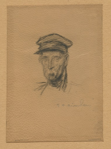 Théophile Alexandre STEINLEN - Stampa-Multiplo - LITHOGRAPHIE SUR CUIR SIGNÉE AU CRAYON HANDSIGNED LITHOGRAPH
