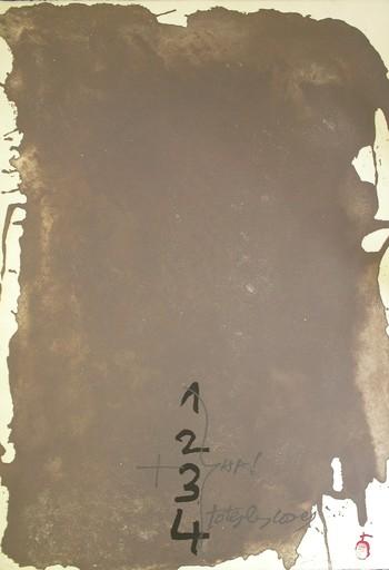 Antoni TAPIES - Print-Multiple - Gris i xifres