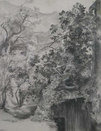 Felix PISSARRO II - Zeichnung Aquarell - House in the Forest