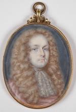 "Christian II RICHTER - Dibujo Acuarela - ""Portrait of a Gent"", Miniature"