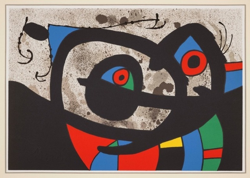 Joan MIRO - Estampe-Multiple - LE LEZARD AUX PLUMES D'OR
