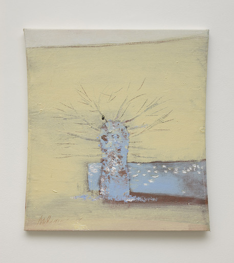 Merlin JAMES - Peinture - Tree and Wall