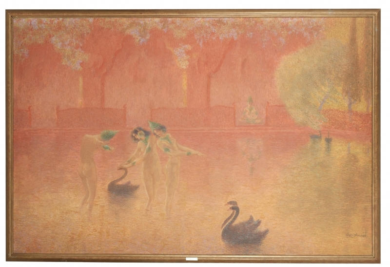 Lucien LÉVY-DHURMER - Peinture - Fantasmagorie
