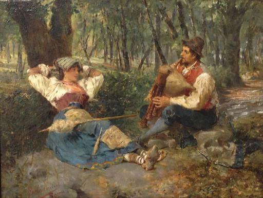 Francesco BERGAMINI - Pintura - Scena galante