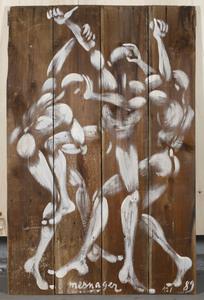 "Jérôme MESNAGER - Painting - ""Combat n°2"""