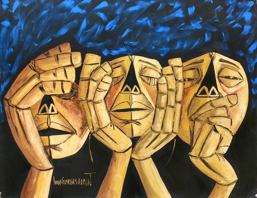 Ivan GUAYASAMIN - Pintura - UNKNOWN TITLE