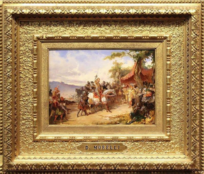 Domenico MORELLI - Gemälde - Ettore Fieramosca (La disfida di Barletta)