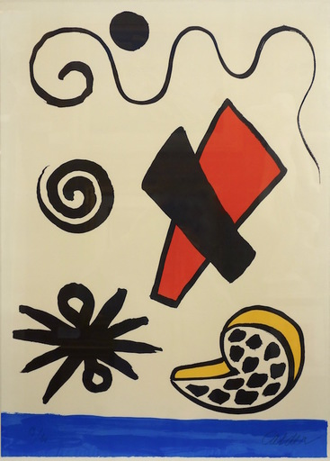 Alexander CALDER - Stampa Multiplo - Composition (Seascape with Sky Forms)