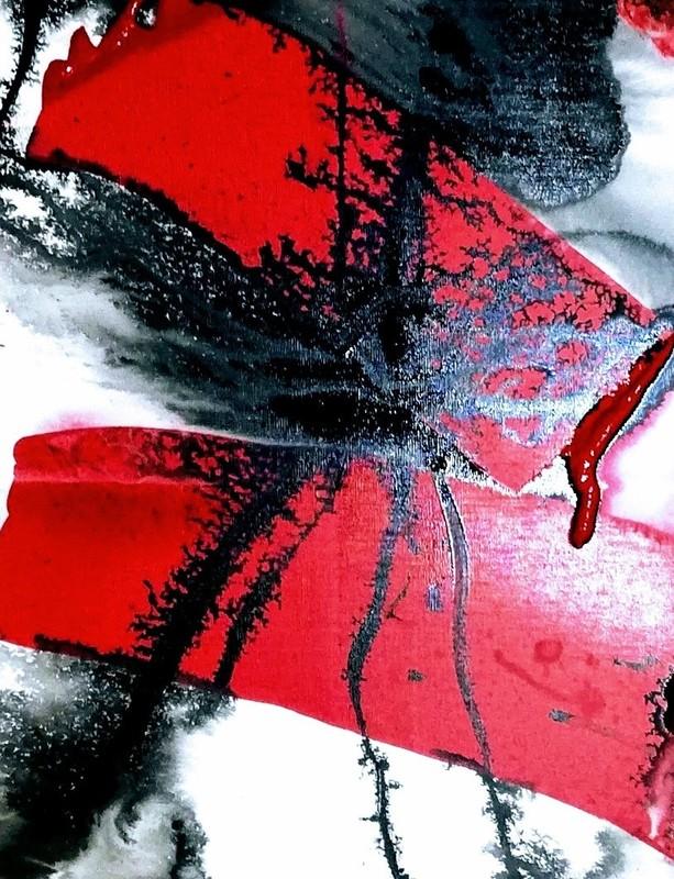 Mégui SANCHEZ - Painting - Rouge 3