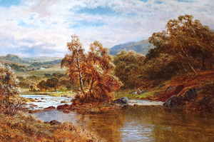 Robert GALLON - Painting - The Llugwy at Capel Curig, Wales