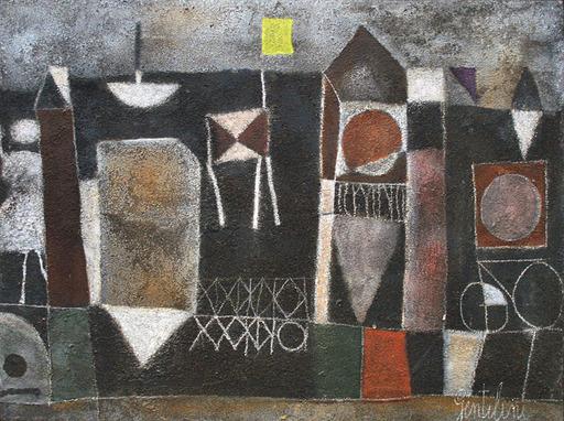 Franco GENTILINI - Pittura - La spiaggia scura