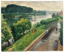 Albert MARQUET - Painting - Au bord de la Seine, la Frette