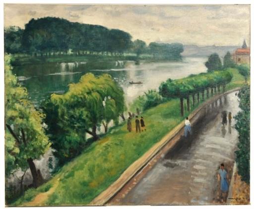 Albert MARQUET - Pintura - Au bord de la Seine, la Frette